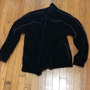 DKNY jeans velour zip up